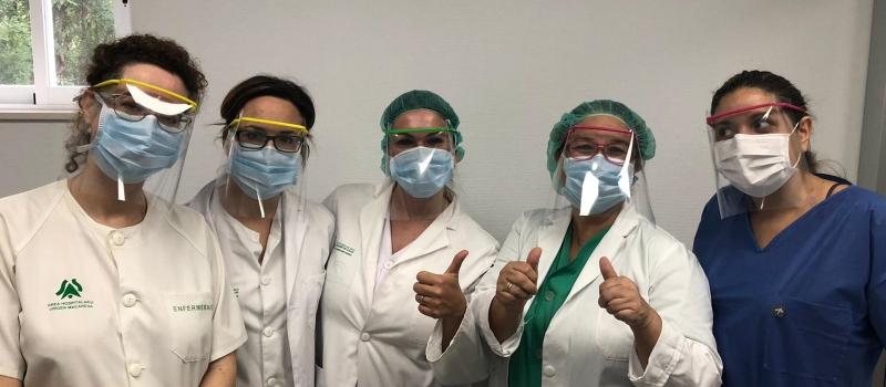 Entregadas las primeras 1.200 pantallas de protección facial al personal sanitario y a las Fuerzas del…